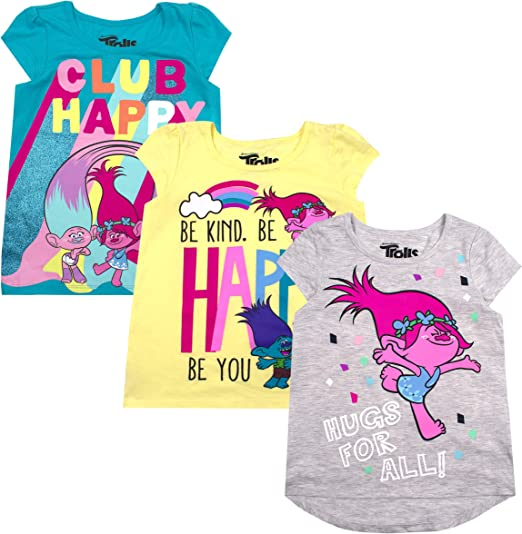 Trolls Toddler Girls T-Shirt and Bike Shorts Set 3T Hot Pink