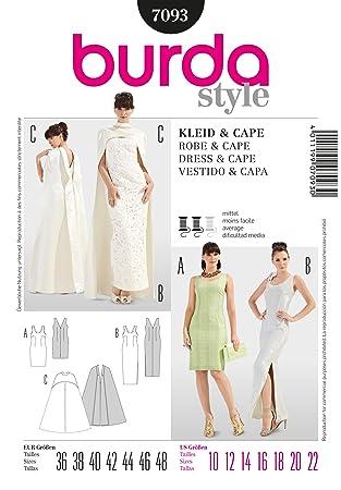 Burda Damen Schnittmuster 7093 – Kleider & Cape Größen: 10–22 ...