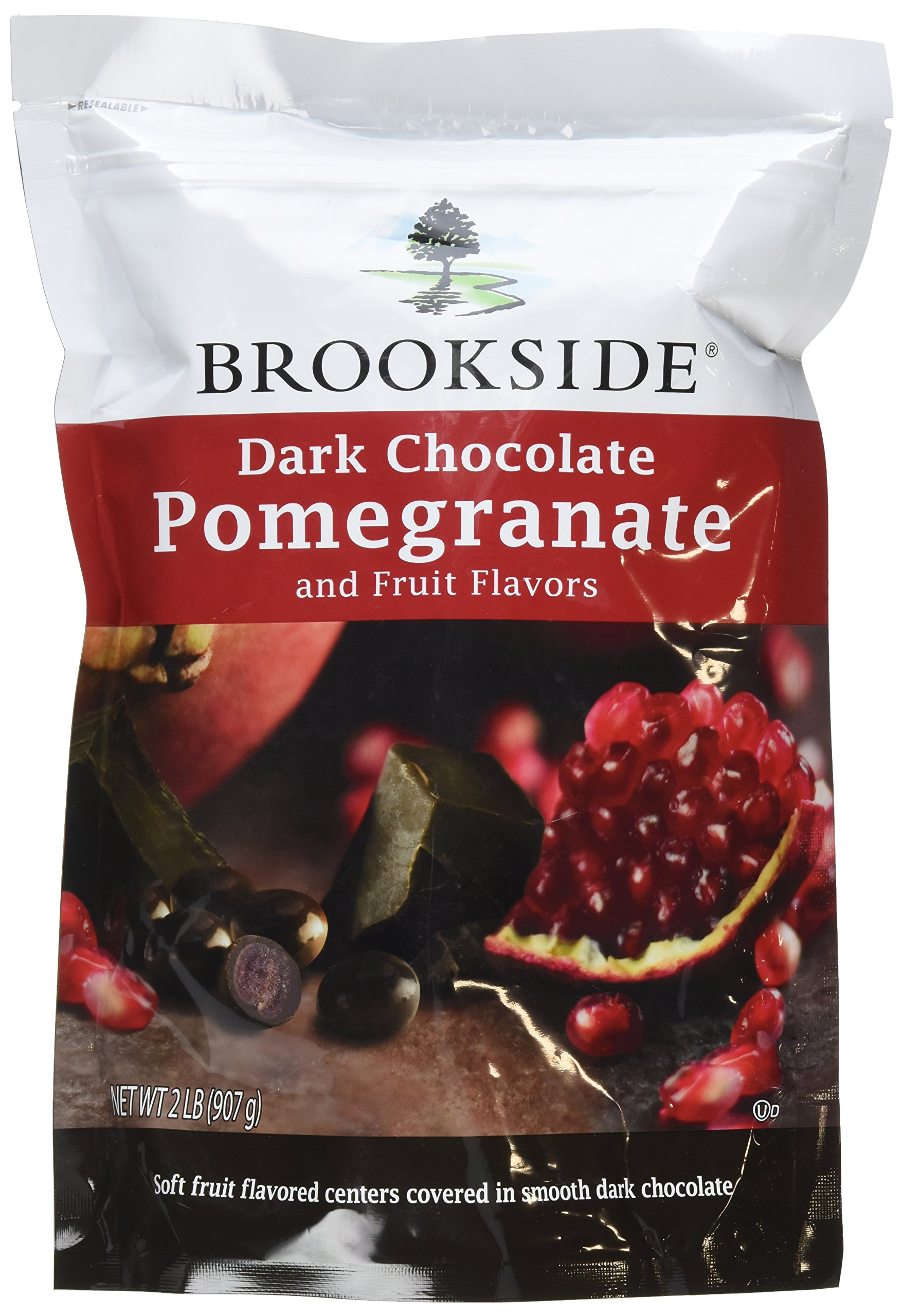 Brookside Dark Chocolate Pomegranate and Fruit Flavors Candy, 32-Ounce Bag (Pack of 2) by Brookside (Image #1)
