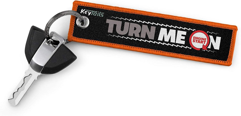 UTV Turn Me On, Ride Me KEYTAILS Keychains ATV Scooter Premium Quality Key Tag for Motorcycle