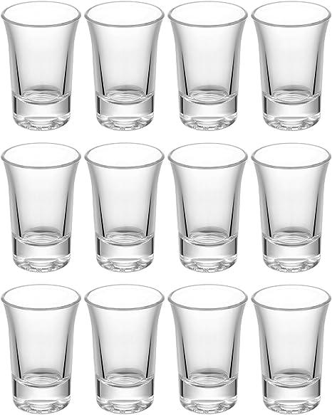 24 x Schnapsglas Stamper Pinnchen Shotgläser Likör Gläser 4cl Schnapsgläser Set