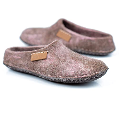 Slippers with Non Slip Rubber Sole