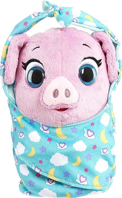 Amazon Com Disney Jr T O T S Cuddle Wrap Plush Pearl The Piglet Toys Games
