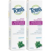 Deals on 2 Toms of Maine Fluoride-Free Antiplaque & Whitening Natural Toothpaste
