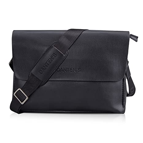 Image Unavailable. Image not available for. Color  Bienna Men Bags  Crossbody Shoulder Bag Black Genuine Leather ... 9e777b5d73ca1