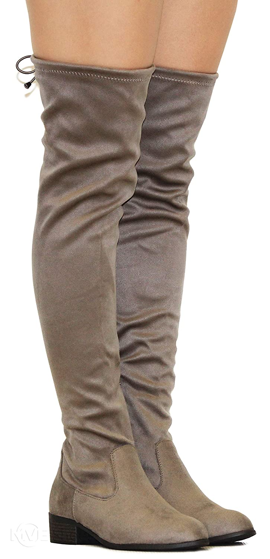 cc727f5c71f MVE Shoes Women s Fashion Comfy Vegan Suede Block Heel Side Zipper ...