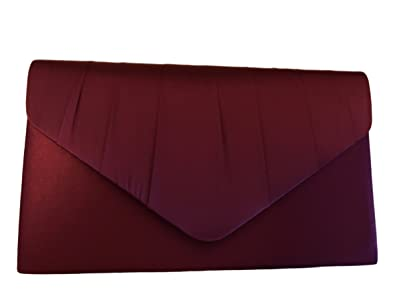 later color brilliancy authentic Burgundy Satin Envelope Clutch Bag, Claret Evening Bag, Ladies Wine  Coloured Shoulder Bag, Prom Wedding