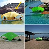 AquaCabana, World's Only All Day/All Way Shade Floating Cabana for Pools, Beaches, Lakes and Rivers