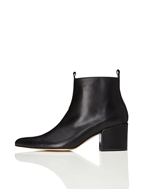 huge discount 7db88 9a26a Amazon-Marke: find. Damen Ankle Boots mit Blockabsatz