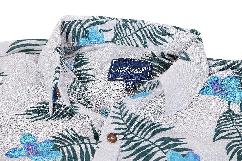 76e5868e Nob Hill Hawaiian Shirt Relaxed Fit Casual Short Sleeve Big Mens Button Up  at Amazon Men's Clothing store: