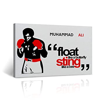 Amazoncom Muhammad Ali Quote Canvas Print Float Like A Butterfly