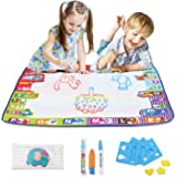 Fansteck Wasser Doodle Matte 78 x 78cm, Wasser Zeichnen Malmatte mit 3 Magic Stifte und Stempelset, Wiederverwendbare Aqua Zeichnung Drawing Painting Matte für Kinder Baby Toddler