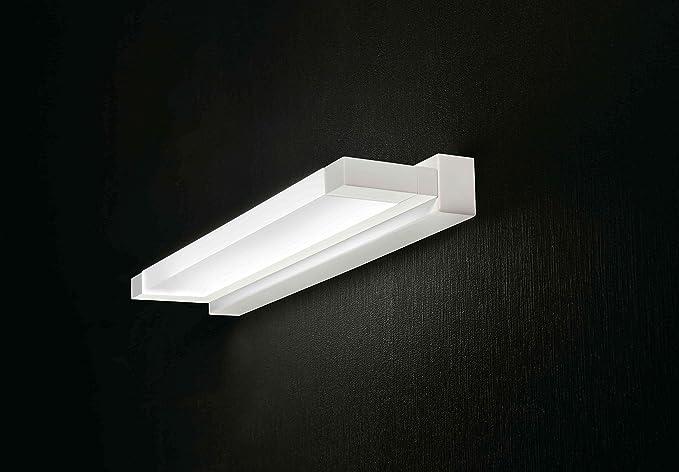 Applique lampada da parete luce da specchio bagno led 12w 3000k 43cm
