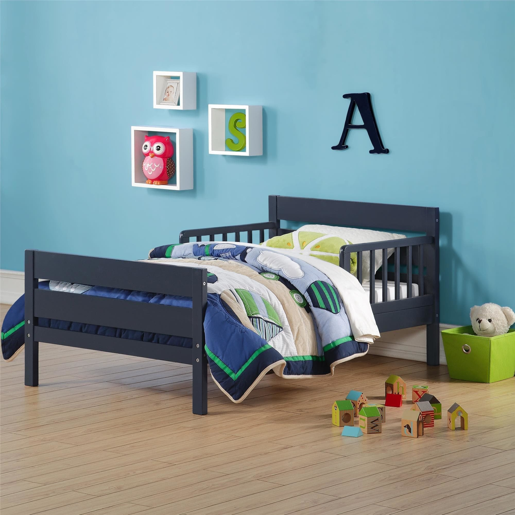 Avenue Greene Baby Relax Cruz Graphite Blue Toddler Bed