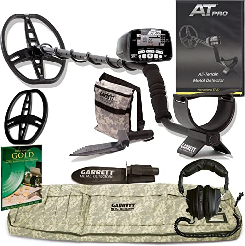 GARRETT AT PRO METAL DETECTOR W 8.5 X 11 DD COIL Cover ADVENTURE PK GOLD BOOK DVD W MUST HAVE ACCESSORIES
