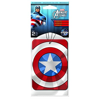 Plasticolor 005492R01 Paper Air Freshener Vanillaroma Scent Marvel Captain America Design: Automotive