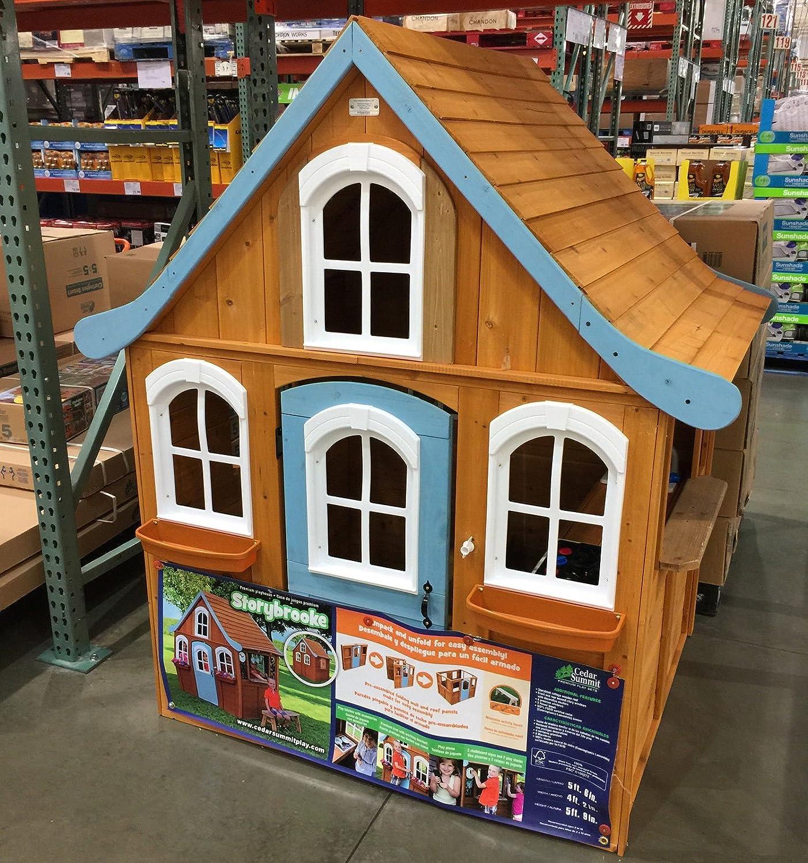 amazon com storybrooke cedar cottage playhouse for kids cottage