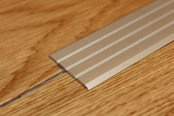 Flat Threshold Carpet Door Aluminium Floor Edging Bar Trim Strip 40mm 1M  (39.37u0026quot;)