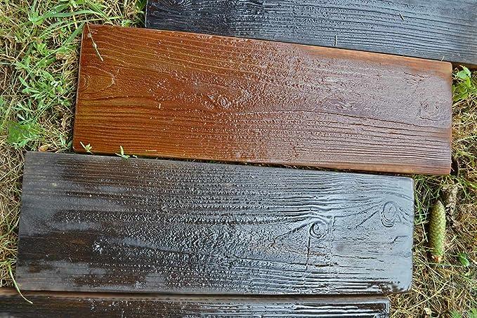 Amazon.com: 2 moldes de madera antigua, molde de hormigón ...