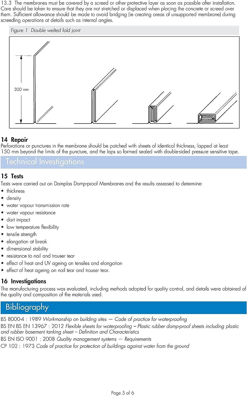 Membrane r/ésistante contre lhumidit/é Feuille de plastique polyth/ène noire et r/ésistante DPM DPC 3 m x 4 m et 300 /µm d/épaisseur 1200 g