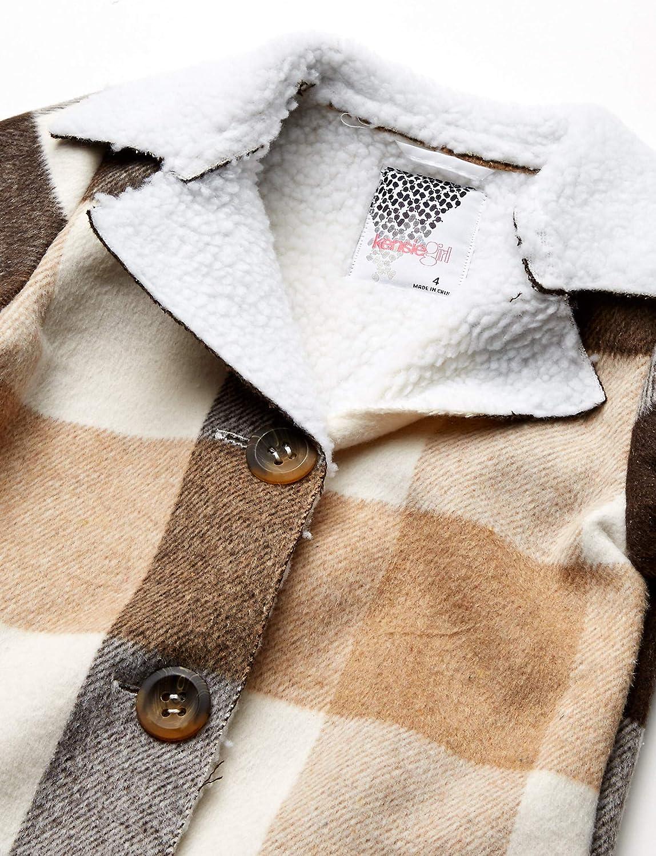 Kensie Girls Outerwear Girls Little Plaid Wool Sherpa Jacket