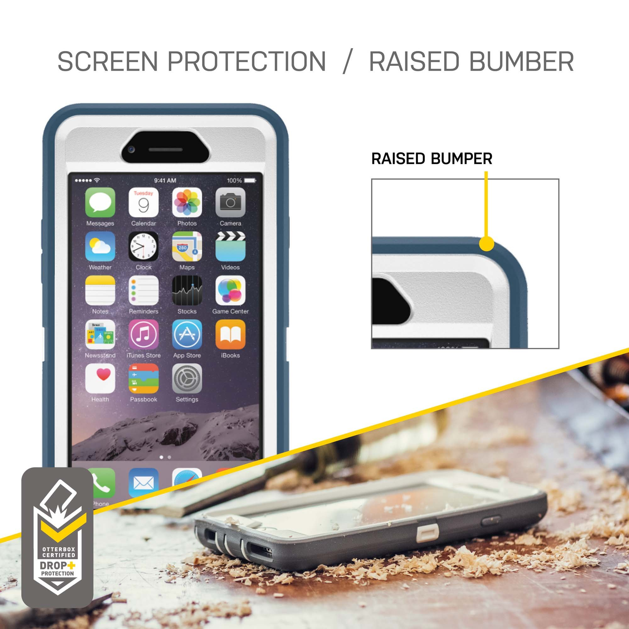OtterBox Defender iPhone 6/6s Case - Retail Packaging - Black by OtterBox (Image #7)