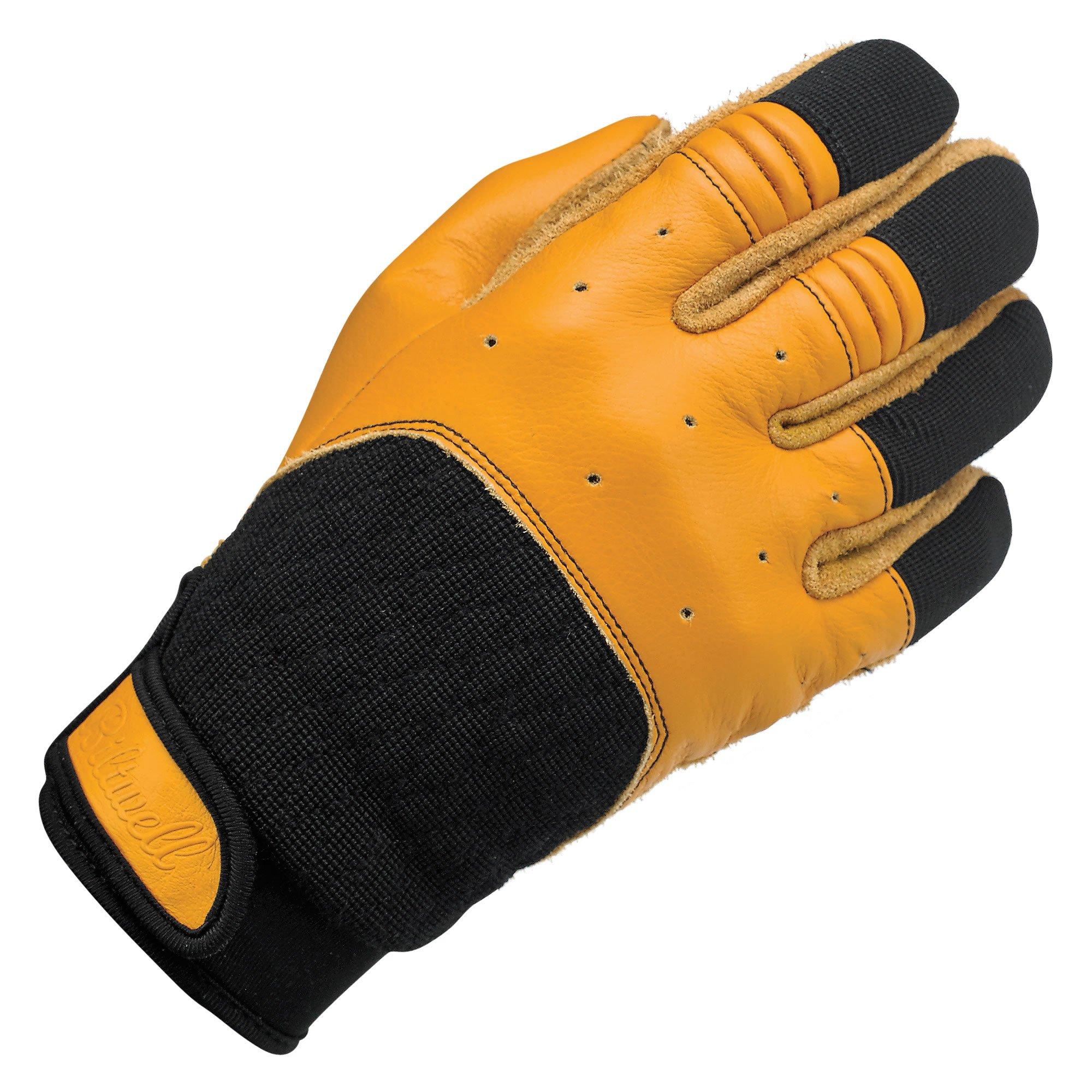 Biltwell Bantam Gloves (Tan/Black, Large)