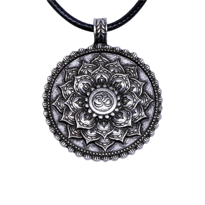 Paw paw house om lotus mandala necklace pendant yoga tibetan paw paw house om lotus mandala necklace pendant yoga tibetan buddhism gift meditation yoga inspired bohemian boho jewelry for women 4029br amazon izmirmasajfo
