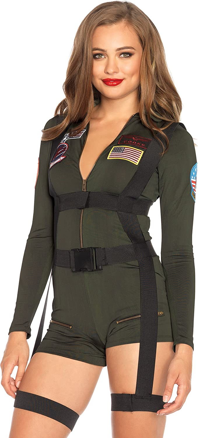 Top Gun Women/'s Costume with Cap and Dress by Rubie/'s
