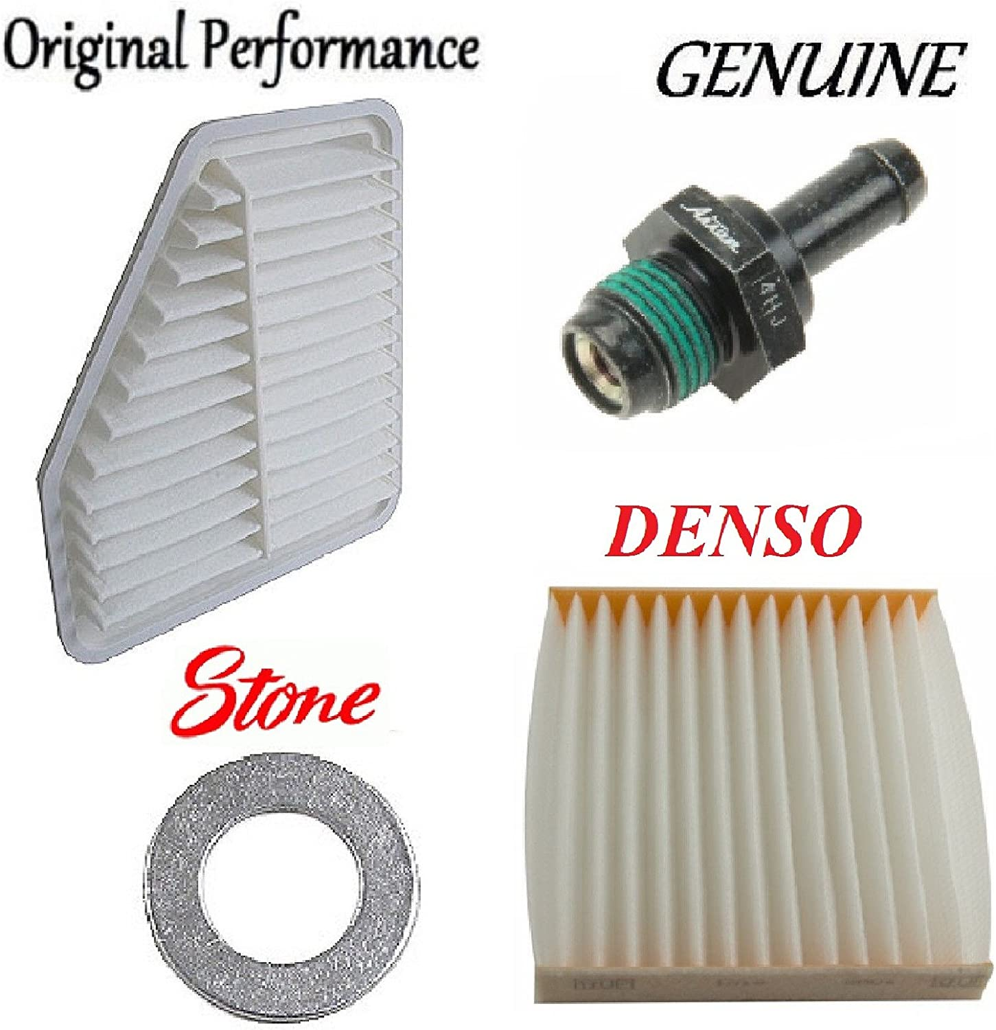 Tune Up Kit Filters Gasket PCV Valve for Toyota Corolla XRS; L4; 2.4L; 2AZFE Eng.; AZE141 2009-2010