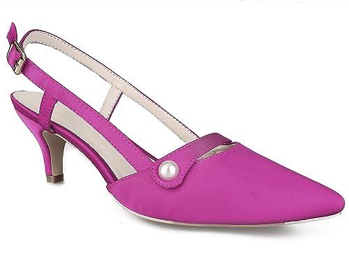 478ed2a7e38 Greatonu Womens Pointed Toe Slingback Dress Court Shoes  Amazon.co ...