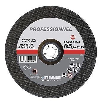 Diam - Disco de corte para amoladora (230 mm x 2,0 mm, para ...