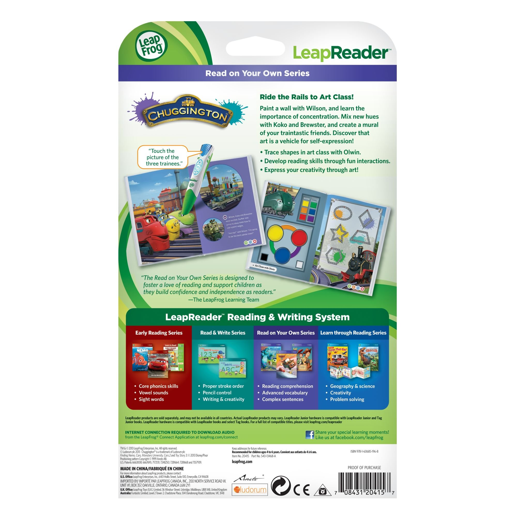 LeapFrog LeapReader Book: Chuggington: Wilson and the Paint Wagon (works with Tag) by LeapFrog (Image #5)