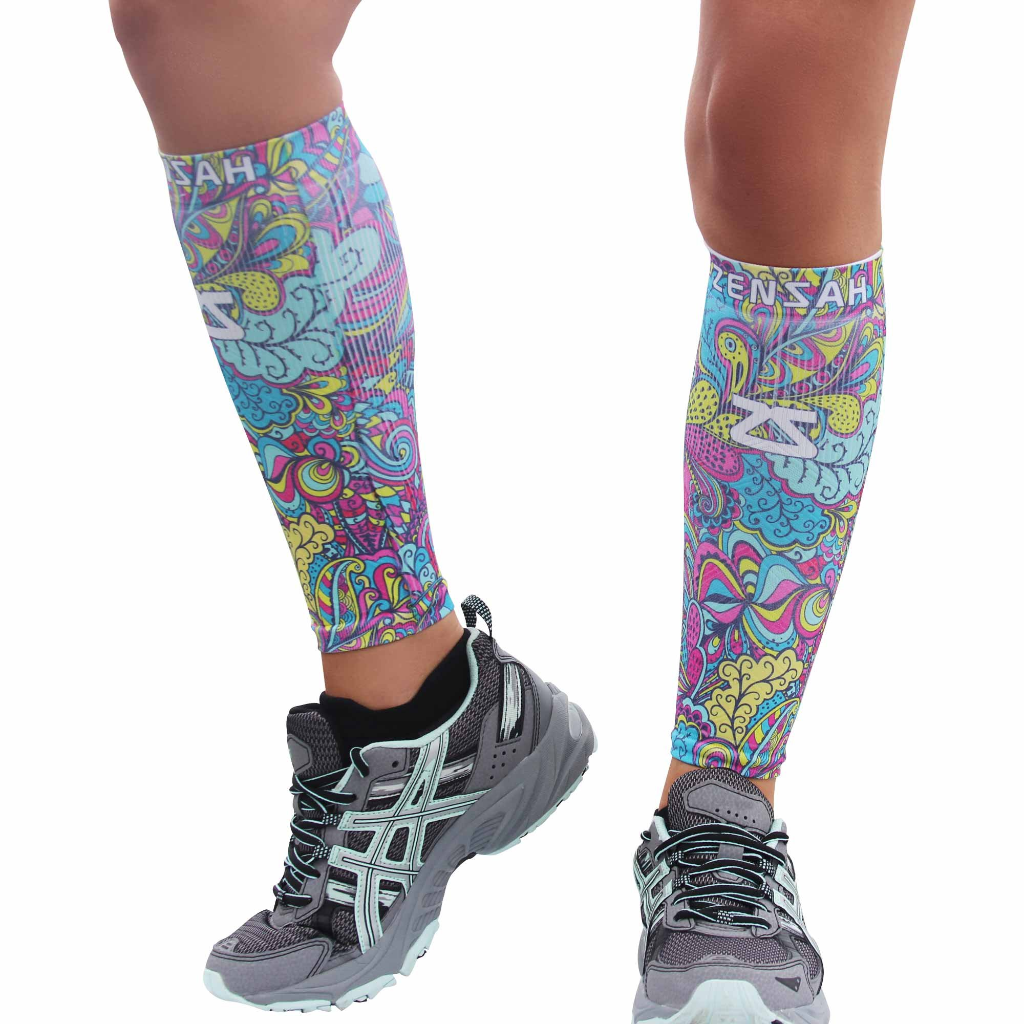 Zensah Design Limited Edition Leg Sleeves, Summer Bloom, X-Small/Small by Zensah