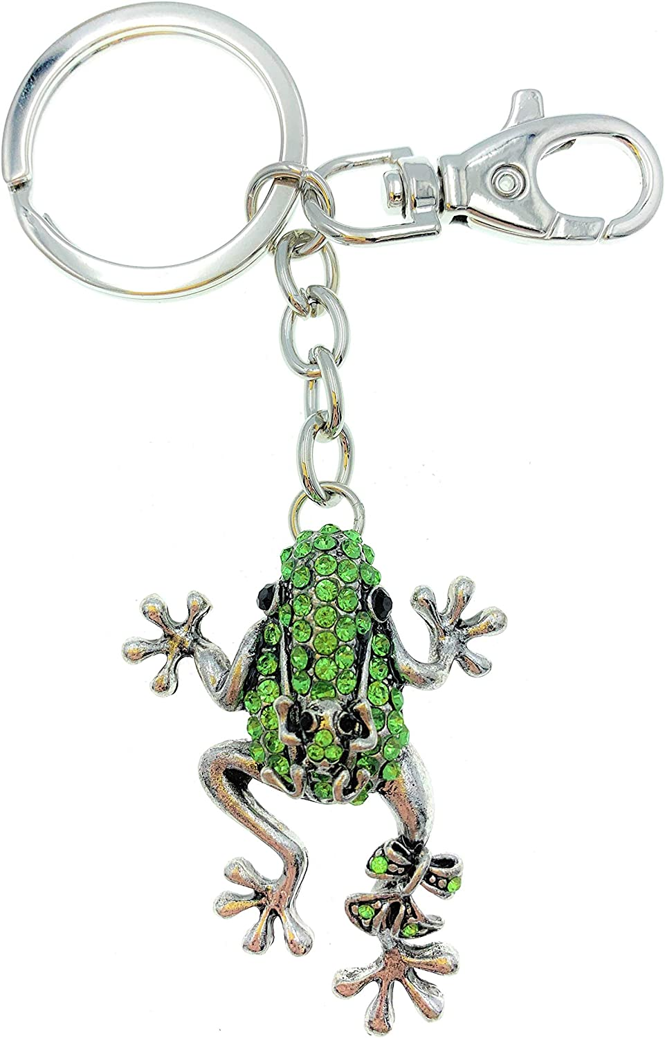 Kubla Craft Frog with Baby Key Chain, 4.5 Inches Long
