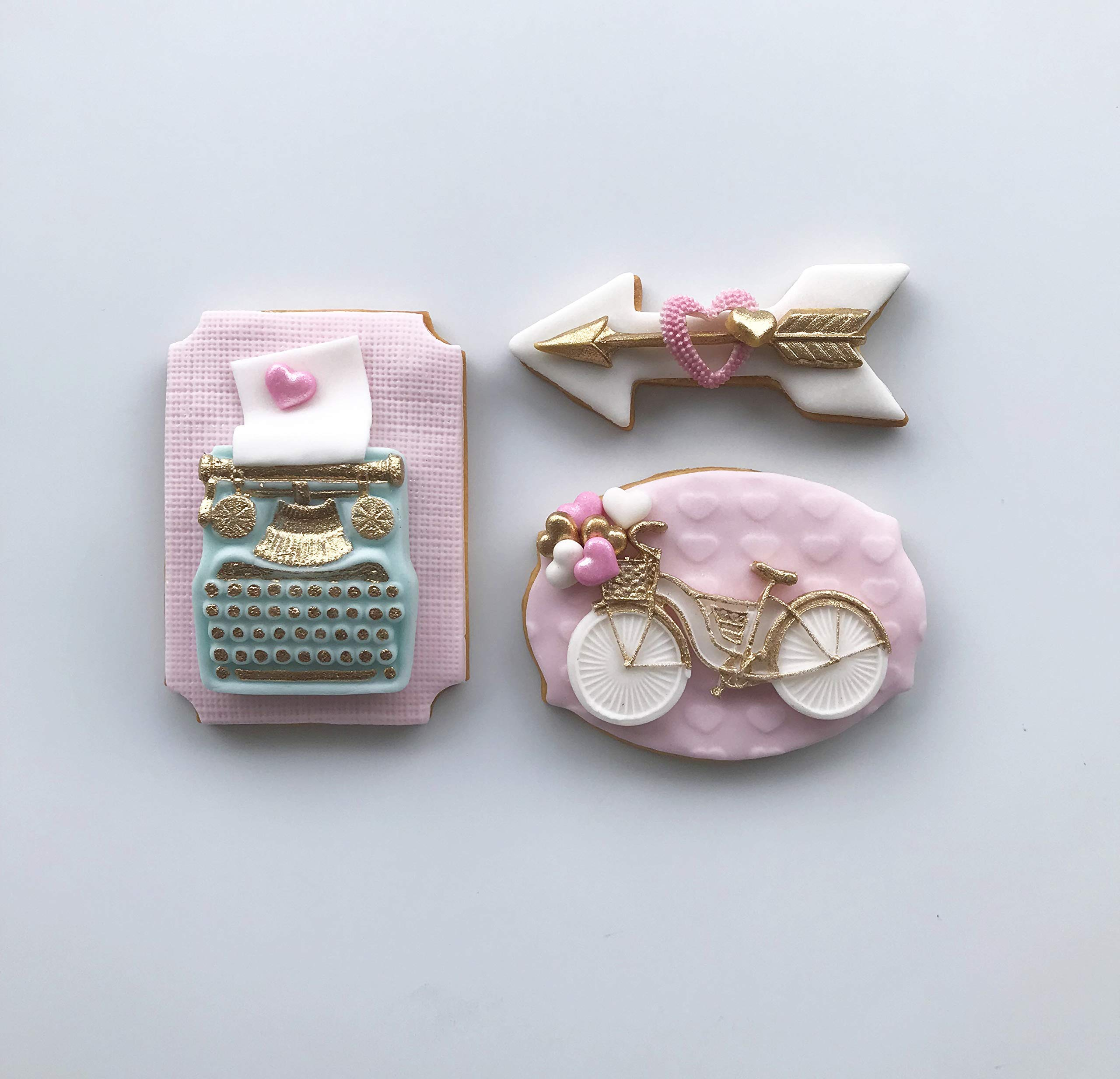 Lorena's Sweets Fondant Cookie kit Assortment Valentine's Pink by Lorena´s Sweets (Image #2)