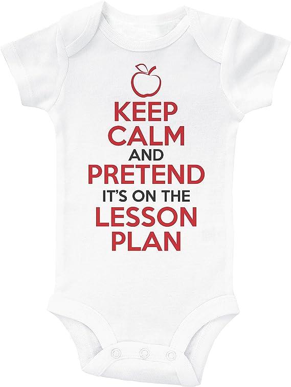 Baffle Teacher Baby Onesie//Keep Calm Lesson Plan//Infant Bodysuit