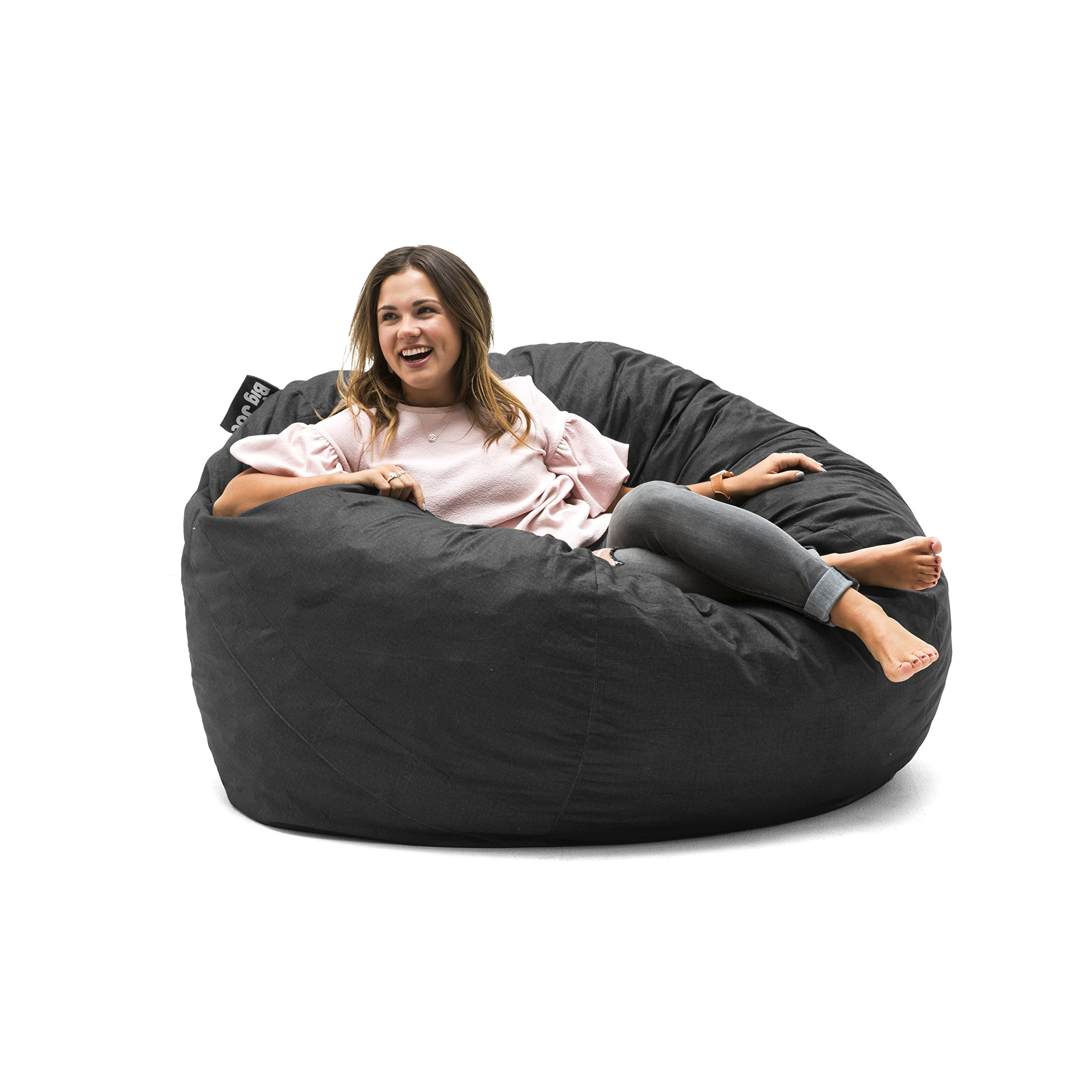 Big Joe 0010655LDS, Black Large Fuf with Removable Washable Cover, Lenox by Big Joe