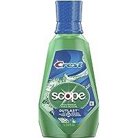 Crest Scope Outlast Mouthwash for Fresh Breath, Long Lasting Mint, 1 L