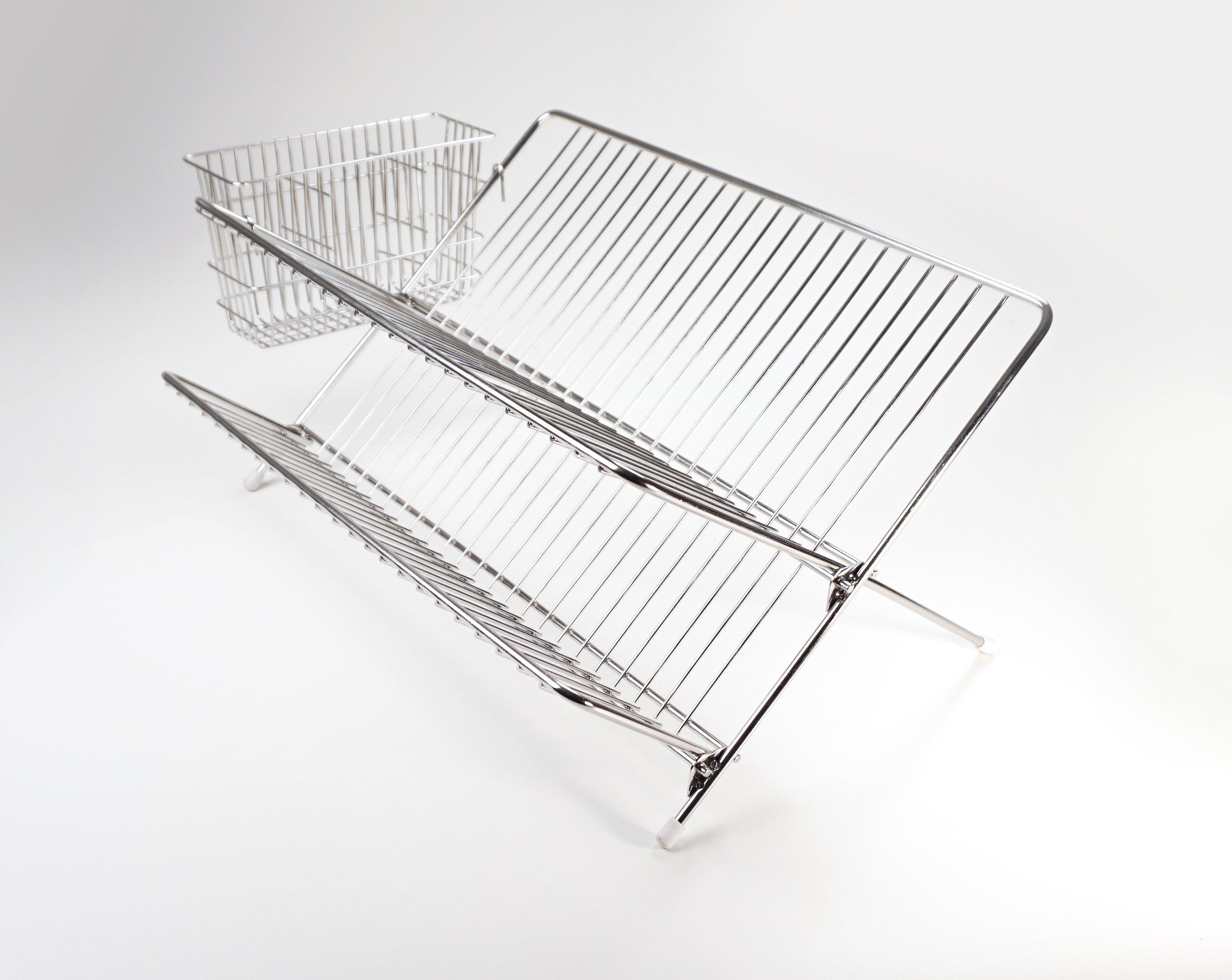 RSVP Endurance Stainless Steel Compact Folding Dish Rack