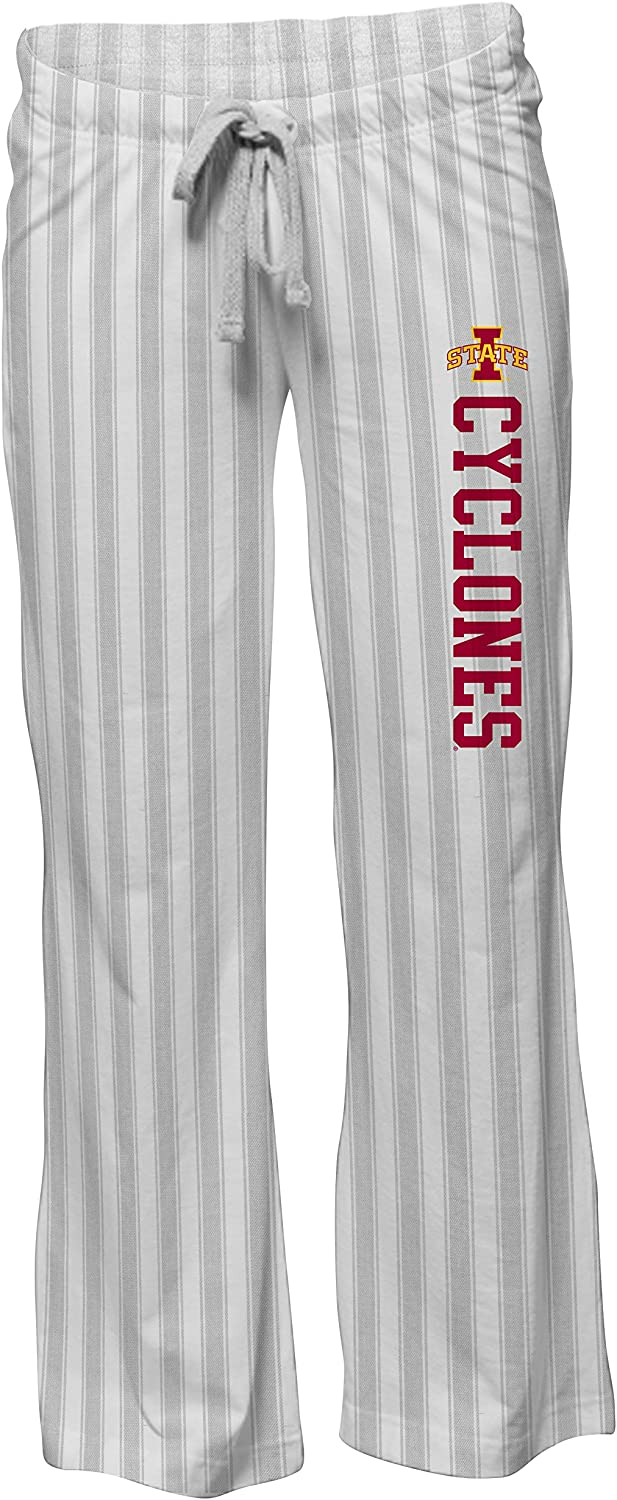 Camp David NCAA Woodstock Womens Flared Flannel Pant with Vertical Stripe