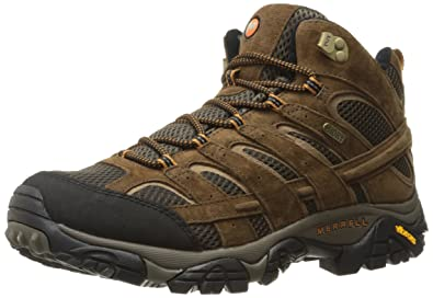Merrell Men's Moab 2 Mid Waterproof Hiking Boot, Earth, ...