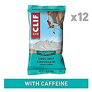 CLIF BAR - Energy Bars - Cool Mint Chocolate with Caffeine (2.4 Ounce Protein Bar, 12 Count)