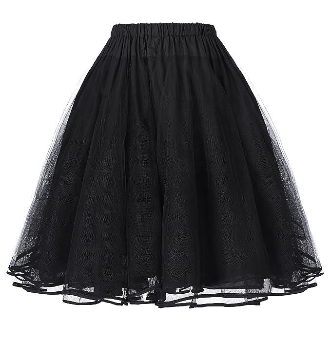 Faldas Cancan Retro Enaguas Negro Faldas para Mujer S BP229-1