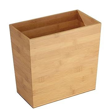 Mdesign Mulleimer Bambus Rechteckig Ideal Als Papierkorb Oder