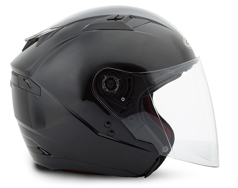 Black Large GMAX OF77 Mens Open Face Street Motorcycle Helmet