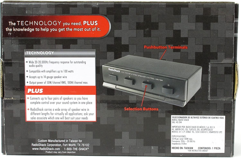 RadioShack High Powered Four Way Stereo Speaker Selector Control Center