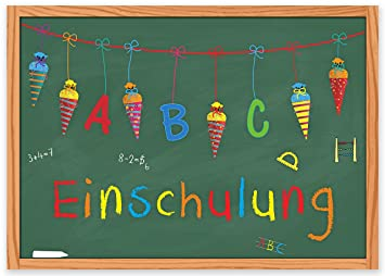 15 Einladungskarten Einschulung Schulanfang Schulbeginn 1. Schultag /  Einladungen Zuckertüte Schultüte Schulkind ABC Schütze