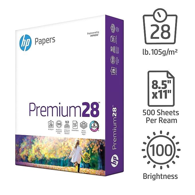 amazon com hp printer paper premium28 8 5 x 11 paper letter
