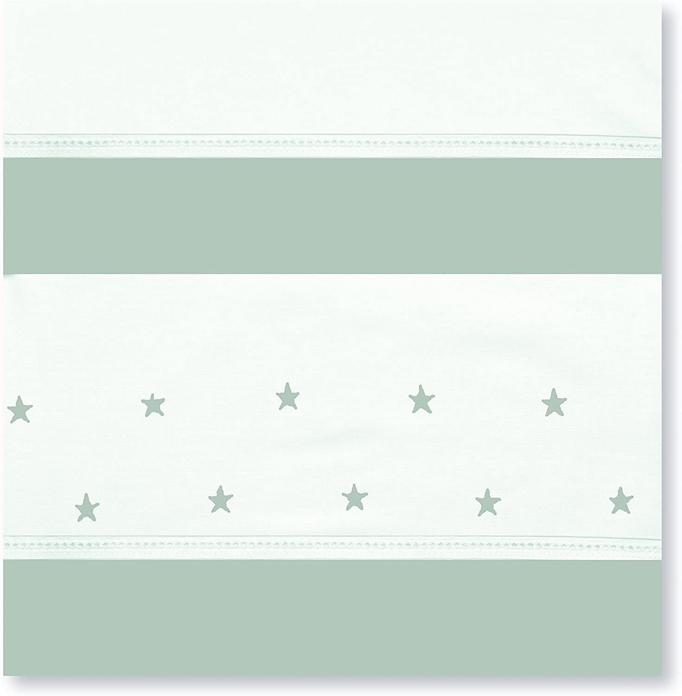 S/ábanas 80 x 140 cm color blanco y azul Bimbi Class